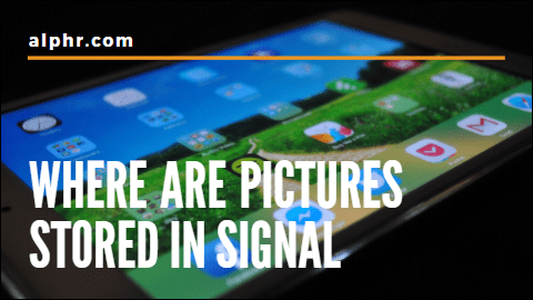 Di manakah gambar disimpan dalam isyarat